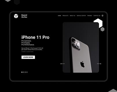 Beyondthebox Landing Page Design Concept