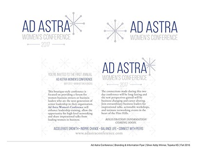 Ad Astra Women's Conference - Branding & Layout