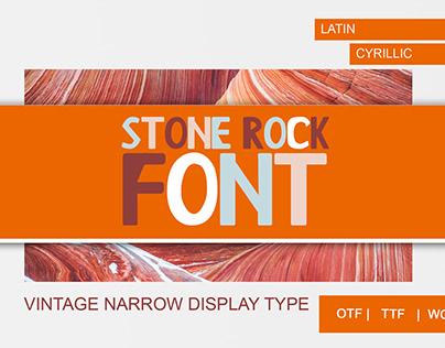 Stone Rock Font - display font