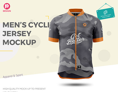 Men's Cycling Jersey Mockup