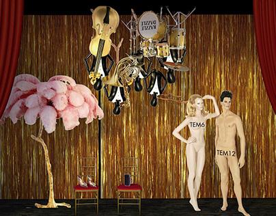 Harvey Window Display - Burlesque