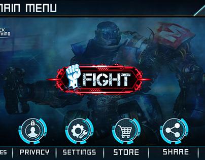robot fighting ui