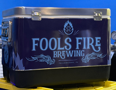 """DESIGN - FOOLS FIRE BREWERY COOLER WRAP"""""""
