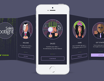 Sales Spotlight App Welcome Screens v2 | Vendini