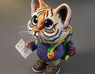 Tiny Tiger (Pictoplasma #2cute2fail challenge)