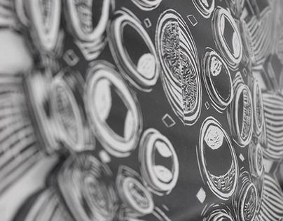Escher lino print