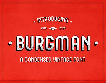 Burgman Sans - Vintage Display Font