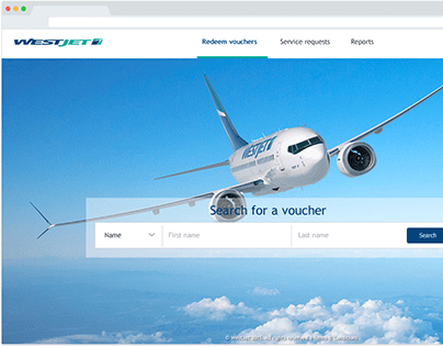 Rewards dashboard for WestJet customer care
