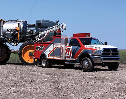 Hagie Service Truck Graphics