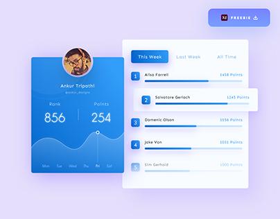Leaderboard UI Design - (Freebie)