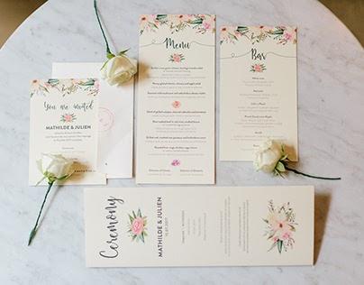 M&J Wedding Website & Stationery