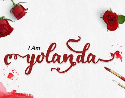 Yolanda brush Font