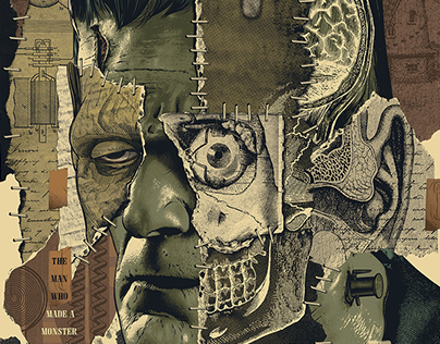 """Frankensteined"" Officially Licensed Screen-Print"