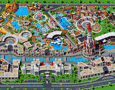 Theme Park Map - The Land Of Legends