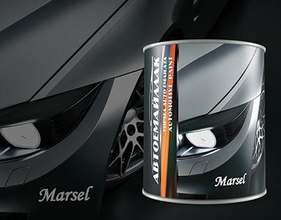 Can design for Auto enamel paint 750ml.
