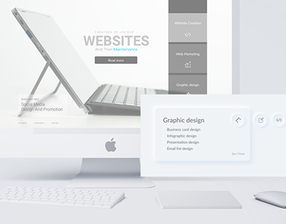 Design Landing Page For Web Studio