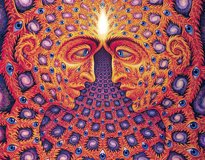 Invitation poster for iconic speaker/artist Alex Grey