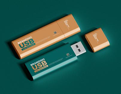 Free USB Flash Drive Mockup
