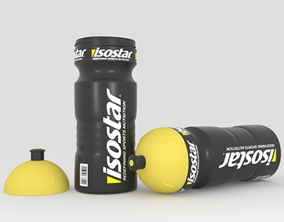 Isostar water bottle - photorealistic render
