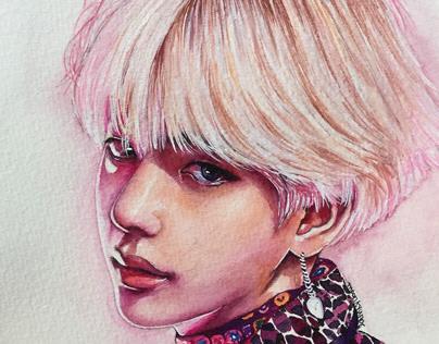 BTS Fanart(Watercolor)V,Jimin,Jungkook,Suga,RM,Jhope