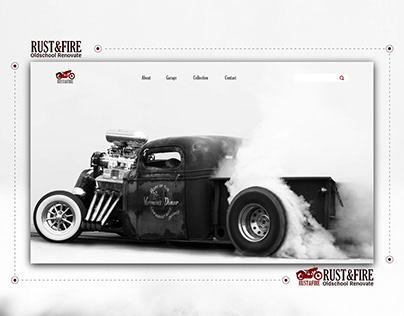 Rust&Fire Concept Web Design Renovation Cars