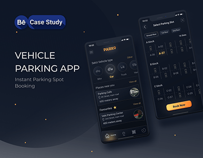 Vehicle Parking App UI/UX Design Case Study
