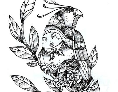 BIRDS serie original de ilustraciones