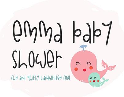 Handwritten Font, Serif Font, Emma Baby Shower