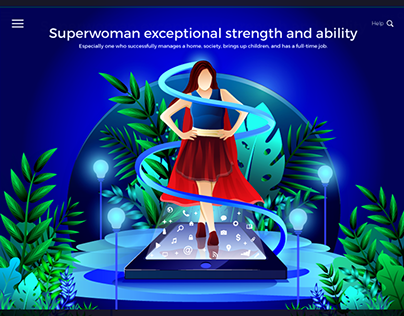 Exceptional Superwoman Illustration