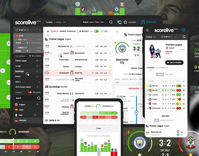 Scorelive | Webdesign & Logo
