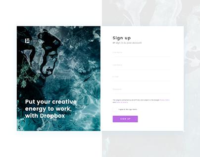 Sign Up Modern Concept