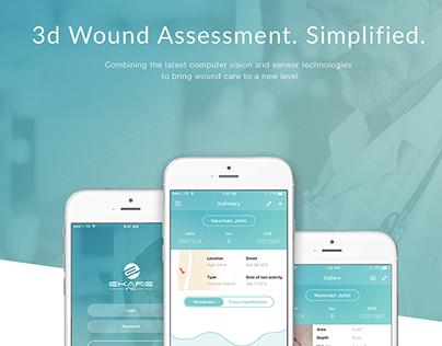 Medecine Startup. UX/UI design for eKare Inc.