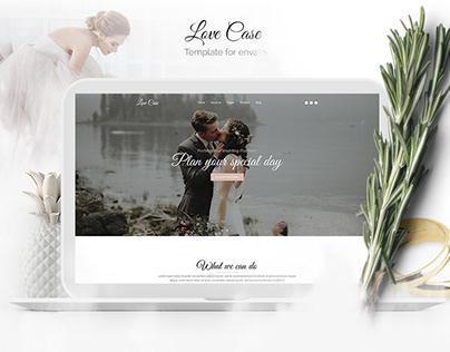Love Case - Wedding template