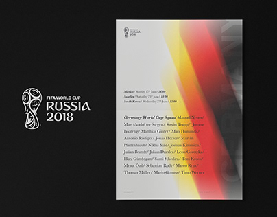 FIFA World Cup 2018 / Poster Series