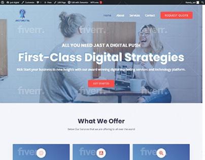 The best digital marketing agency wordpress website