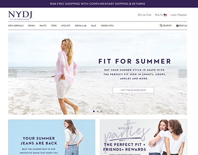 NYDJ E-Commerce Mobile and Tablet