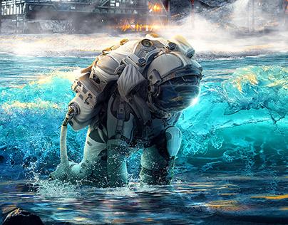 Astronaut in the ocean | Fan Art Manipulation