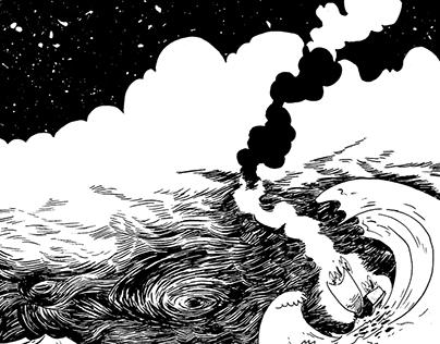 Ilustraión Homenaje Hugo Pratt