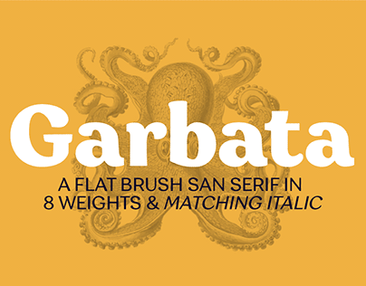 Garbata: not your usual sans serif, including FREE FONT