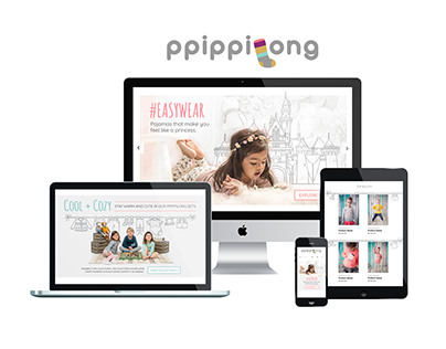 Ppippilong Kids Homepage Redesign