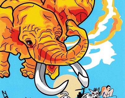 Elefant attack