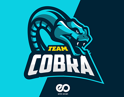 Cobra Team Mascot Esport Logo Design