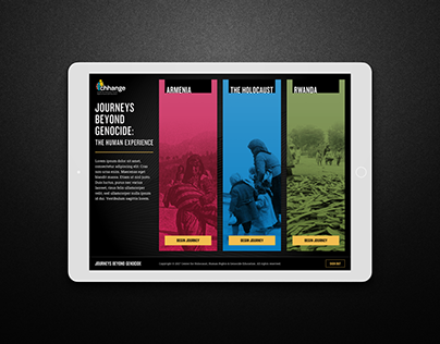 Journeys Beyond Genocide Interactive Exhibit App