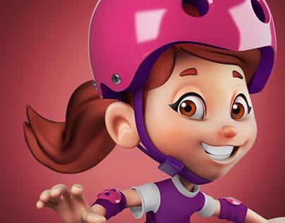Character Design - Lanchinho Isabela