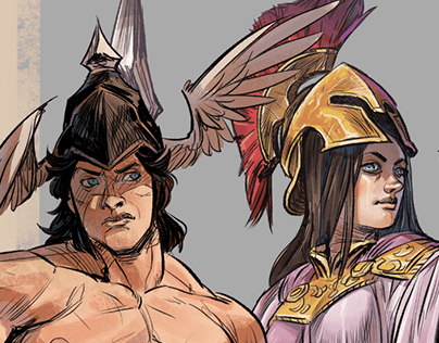 Shield of Athena - Character Designs