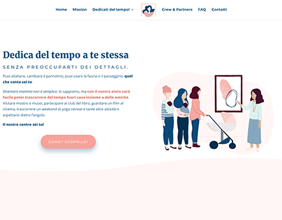 Mamme In Mostra - Website Illustration