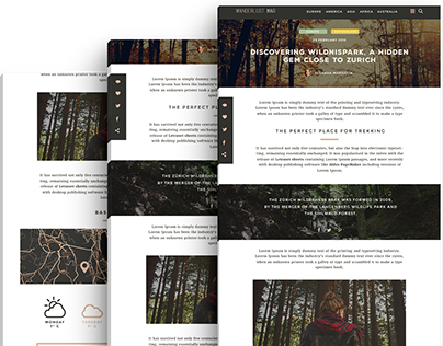 Wanderlust - Free PSD blog post template