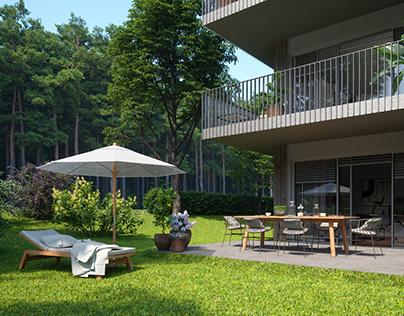 External visualization of Quartier am Stadtwald