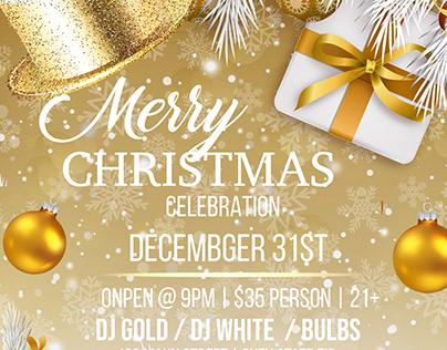 NYE Gold Christmas Celebration Template