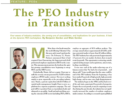 The PEO Industry in Transition: Benjamin Gordon, BGSA